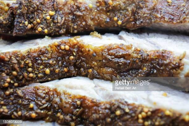 roasted leg of lamb slices - rafael ben ari stock pictures, royalty-free photos & images