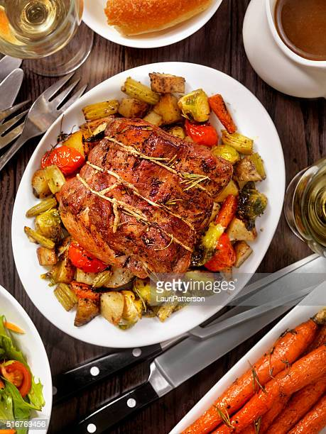 Roasted Pork Loin Roast Dinner