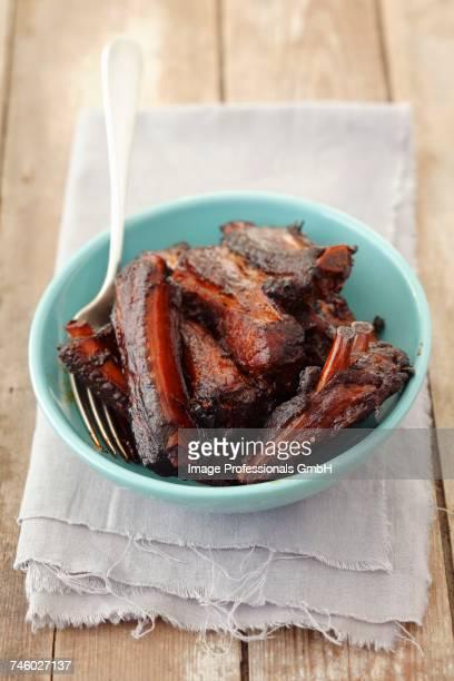 roasted pork ribs - rua stock-fotos und bilder