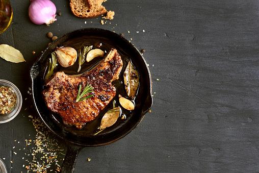 Roasted pork steak 895033896