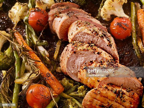 roasted pork tenderloin - food state stock pictures, royalty-free photos & images
