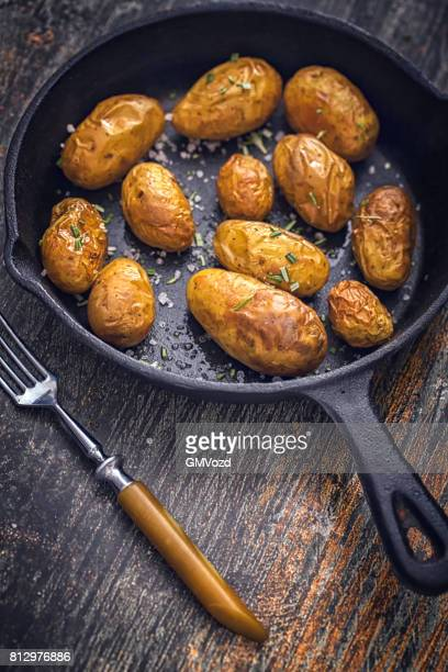 Roasted Potatoes with Rosemary in a Pan