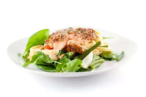 Roasted Salmon Salad 173923946