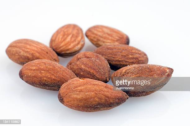 roasted salted almonds - salted stock pictures, royalty-free photos & images