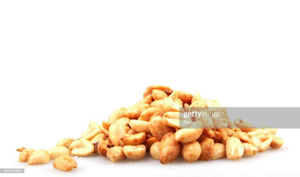 Roasted salted peanuts : Stock Photo