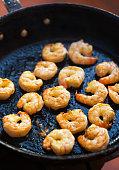 roasted shrimps pan
