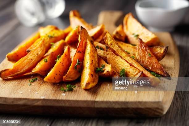 roasted Sweet potatoes wedges