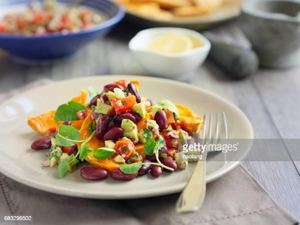 ワカモレとインゲン豆な焼き芋ウェッジ