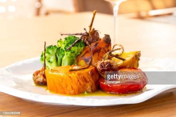 ロースト野菜 - コース料理 ストックフォトと画像