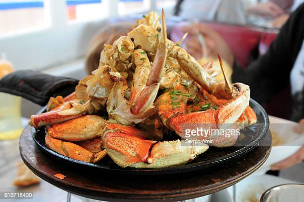Roasted whole dungeness crab
