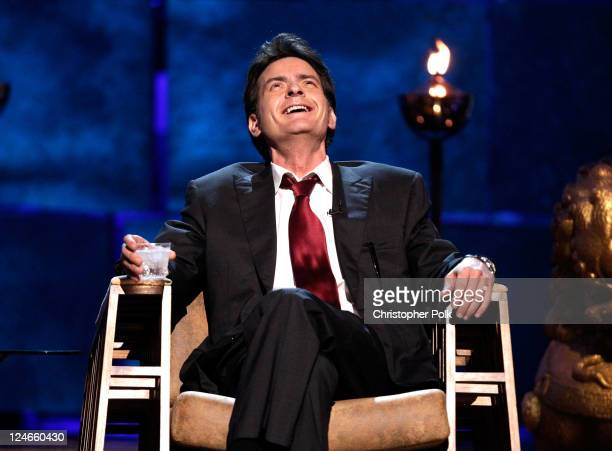 Roastee Charlie Sheen speaks onstage at Comedy Central's Roast of Charlie Sheen held at Sony Studios on September 10 2011 in Los Angeles California