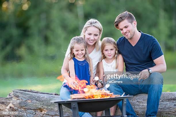 Roasting Marshmallows Around a Fire