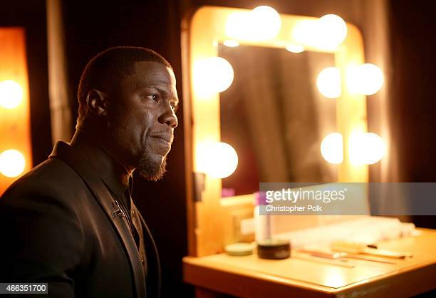 Roastmaster Kevin Hart attends The Comedy Central Roast of Justin Bieber at Sony Pictures Studios on March 14, 2015 in Los Angeles, California. The...