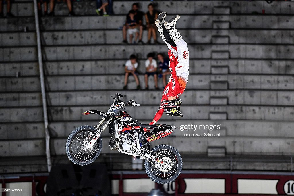 Rob Adelberg of Australia competes during qualifying for Red Bull X Fighter on June 23, 2016 in Madrid, Spain.