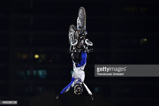 Rob Adelberg of Australia rides during the Red Bull XFighters World Tour 2015 on October 30 2015 in Abu Dhabi United Arab Emirates
