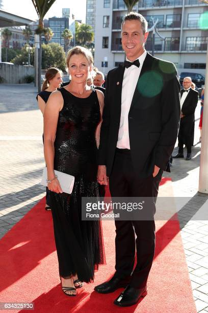 Rob and Sonia Waddell arrive at the 54th Halberg Awards at Vector Arena on February 9 2017 in Auckland New Zealand
