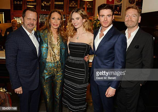 Rob Ashford Marisa Berenson Lily James Richard Madden and Sir Kenneth Branagh attend the press night after party for The Kenneth Branagh Theatre...