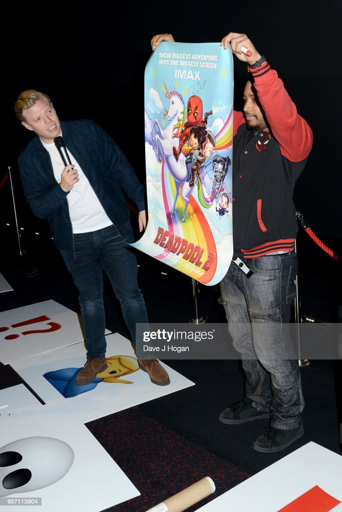 Rob Beckett (L) attends the 'Deadpool 2' fan screening at Cineworld Leicester Square on May 10, 2018 in London, England.