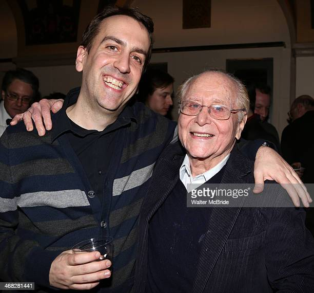 Rob Berman with Seymour Red Press as he celebrates his birthday at the closing night reception for the Encores production of 'Little Me' at the New...