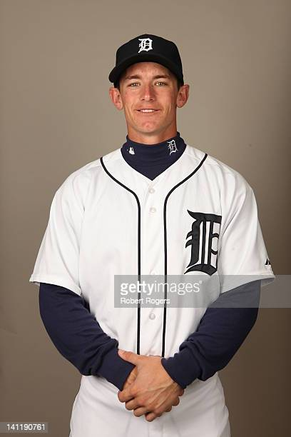 Rob Brantly of the Detroit Tigers poses during Photo Day on Tuesday February 28 2012 at Joker Marchant Stadium in Lakeland Florida
