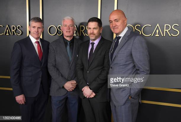 Rob Bredow, Patrick Tubach, Neal Scanlan and Dominic Tuohy attend the 92nd Oscars Nominees Luncheon on January 27, 2020 in Hollywood, California.