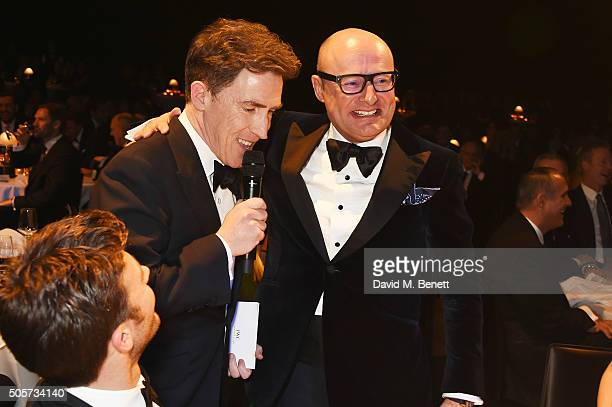Rob Brydon and Georges Kern attend the IWC 'Come Fly with us' Gala Dinner during the launch of the Pilot's Watches Novelties from the Swiss luxury...