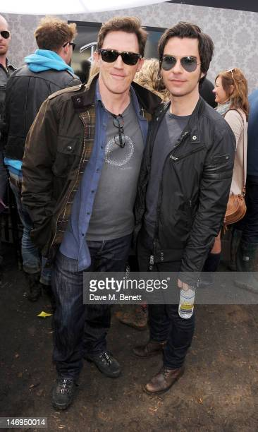 Rob Brydon and Kelly Jones attend the RayBan Rooms during day three of the Isle of Wight Festival at Seaclose Park on June 24 2012 in Newport Isle of...