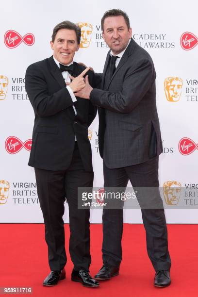 Rob Brydon and Lee Mack attend the Virgin TV British Academy Television Awards at The Royal Festival Hall on May 13 2018 in London England