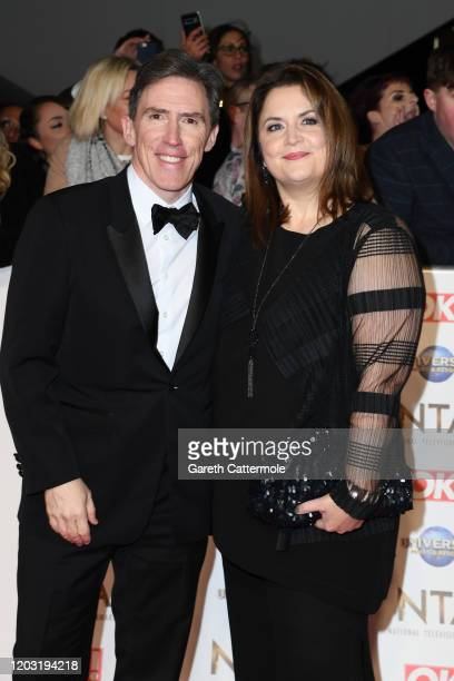 Rob Brydon and Ruth Jones attend the National Television Awards 2020 at The O2 Arena on January 28 2020 in London England