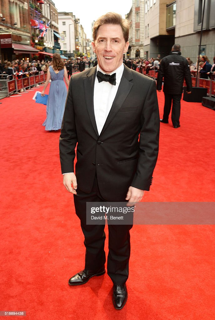 Rob Brydon arrives at The Olivier Awards with Mastercard at The Royal Opera House on April 3, 2016 in London, England.