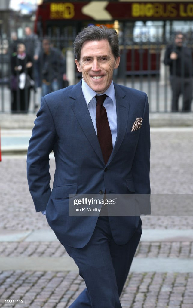 Rob Brydon attends a memorial service for comedian Ronnie Corbett at Westminster Abbey on June 7, 2017 in London, England. Corbett died in March 2016 at the age of 85.