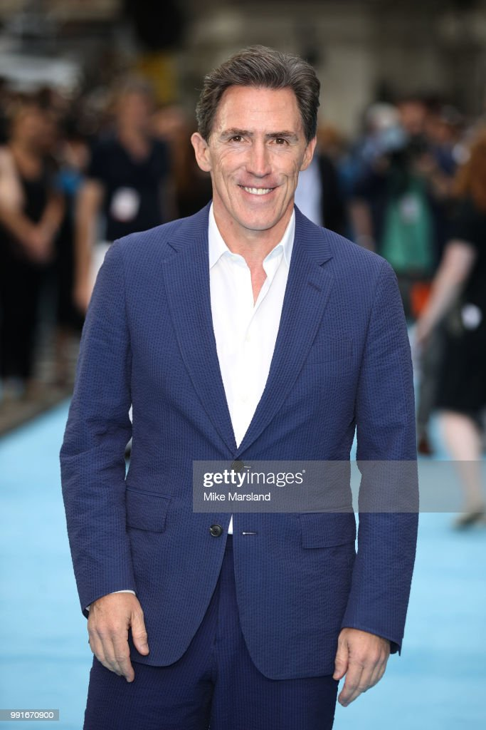 Rob Brydon attends the 'Swimming With Men' UK Premiere at The Curzon Mayfair on July 4, 2018 in London, England.