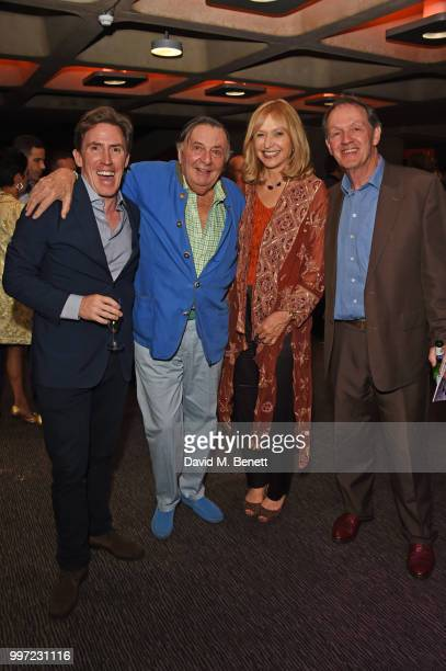 Rob Brydon Barry Humphries Lizzie Spender and Kevin Whately attend the press night performance of Barry Humphries' Weimar Cabaret at The Barbican...
