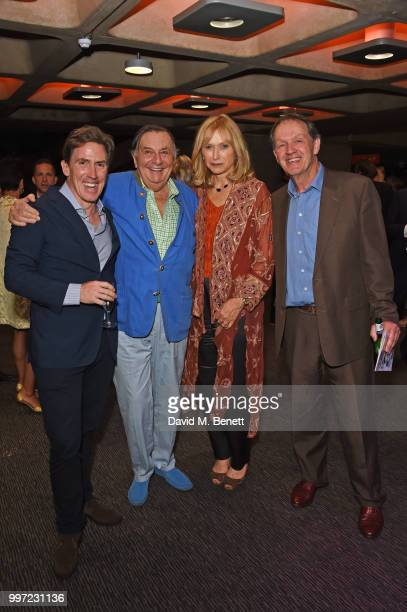 Rob Brydon Barry Humphries Lizzie Spender and Kevin Whately attend the press night performance of 'Barry Humphries' Weimar Cabaret' at The Barbican...