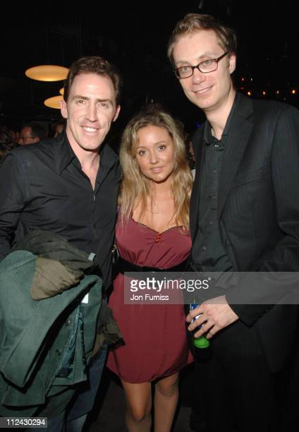 Rob Brydon Guest and Stephen Merchant during Hot Fuzz UK Film Premiere After Party at Sound in London Great Britain