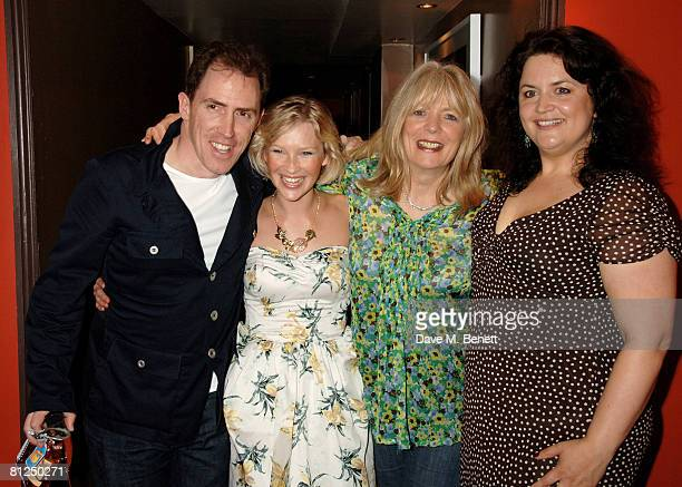 Rob Brydon Joanna Page Alison Steadman and Ruth Jones attend the afterparty following the press night for 'Fat Pig' at Stanza on May 27 2008 in...