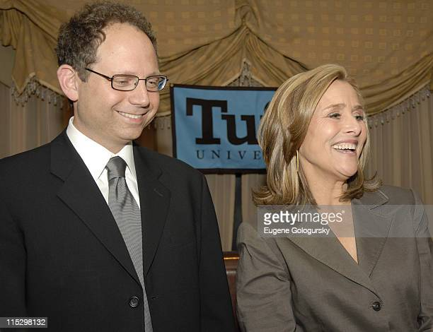 Rob Burnett and Meredith Vieira during Meredith Vieira to host 2nd Annual PT Barnum Awards Ceremony Honoring Four Tufts University Alumni at...