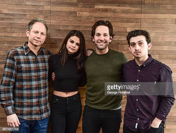 Rob Burnett Selena Gomez Paul Rudd and Craig Roberts attend 'The Fundamentals Of Caring' Portraits during the 2016 Sundance Film Festival at Acura...