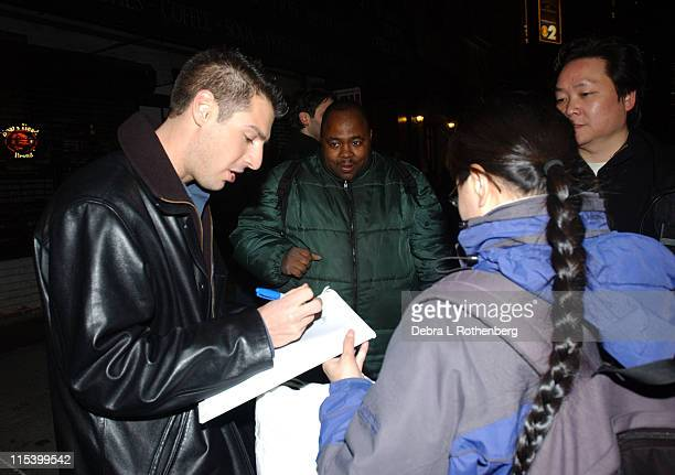 Rob Cesternino and fans during Norah Jones Jeff Goldblum and Rob Cesternino from Survivor All Stars Stop by The Late Show with David Letterman at Ed...