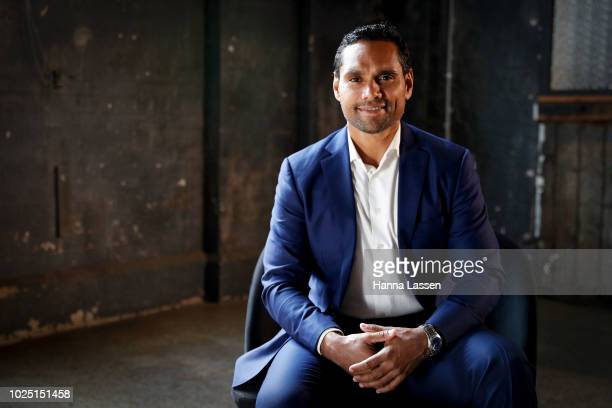 Rob Collins poses for a media call ahead of the 25th Anniversary of Screen Australia's Indigenous Department at Carriageworks on August 30 2018 in...