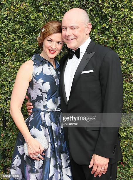 Rob Corddry and Sandra Corddry attend the 2015 Creative Arts Emmy Awards at Microsoft Theater on September 12 2015 in Los Angeles California
