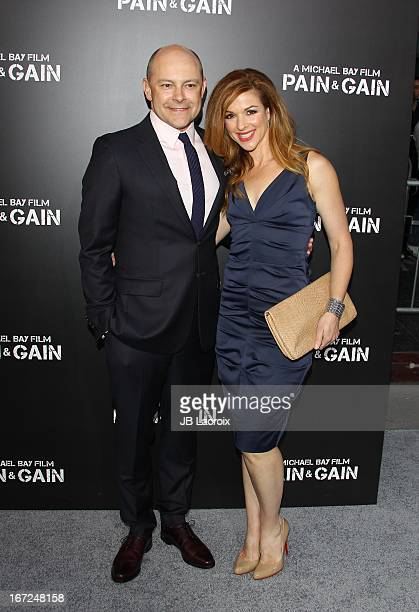 Rob Corddry and Sandra Corddry attend the 'Pain Gain' Los Angeles Premiere held at TCL Chinese Theatre on April 22 2013 in Hollywood California