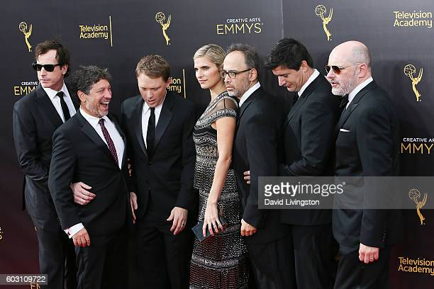 Rob Corddry David Wain Ken Marino Lake Bell Jon Stern Rob Huebel and Krister Johnson attend the 2016 Creative Arts Emmy Awards Day 2 at the Microsoft...