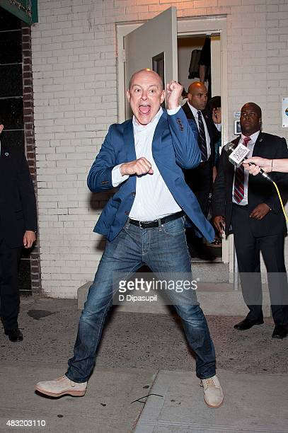 Rob Corddry is seen departing the final episode of 'The Daily Show with Jon Stewart' at The Daily Show Building on August 6 2015 in New York City