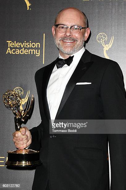 Rob Corddry poses in the press room at the 2016 Creative Arts Emmy Awards held at Microsoft Theater on September 11 2016 in Los Angeles California