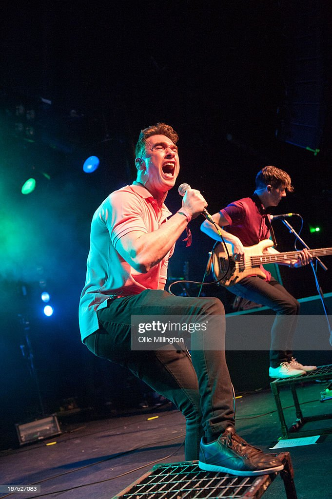Rob Damian and Tom Doyle of Don Broco perform on stage at Rock City headlining the Hit The Deck Festival 2013 at Rock City on April 21, 2013 in Nottingham, England.