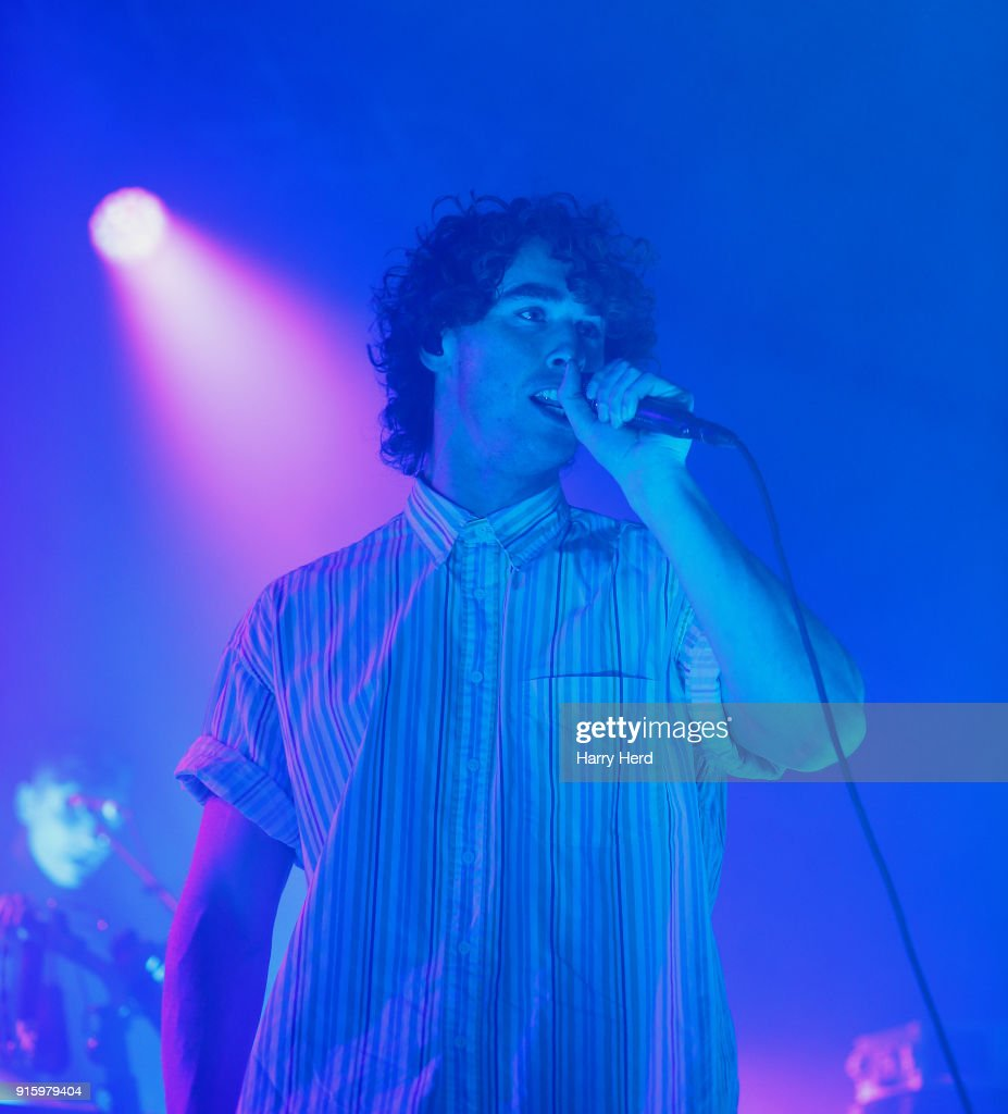 Rob Damiani of Don Broco performs at Pyramids Plaza on February 8, 2018 in Portsmouth, England.