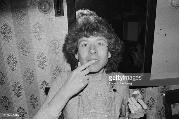 Rob Davis of English glam rock band Mud backstage Leicester United Kingdom 1975