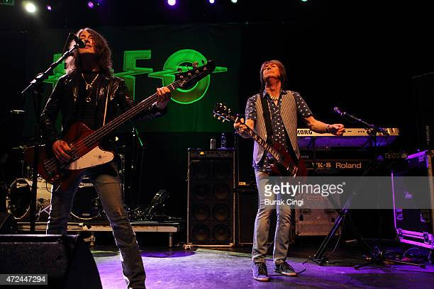 Rob De Luca and Paul Raymond of UFO perform at The Forum on May 7 2015 in London United Kingdom