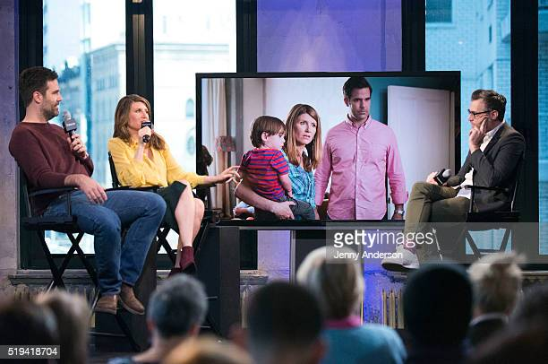 Rob Delaney and Sharon Horgan attend AOL Build Series at AOL Studios in New York on April 6 2016 in New York City